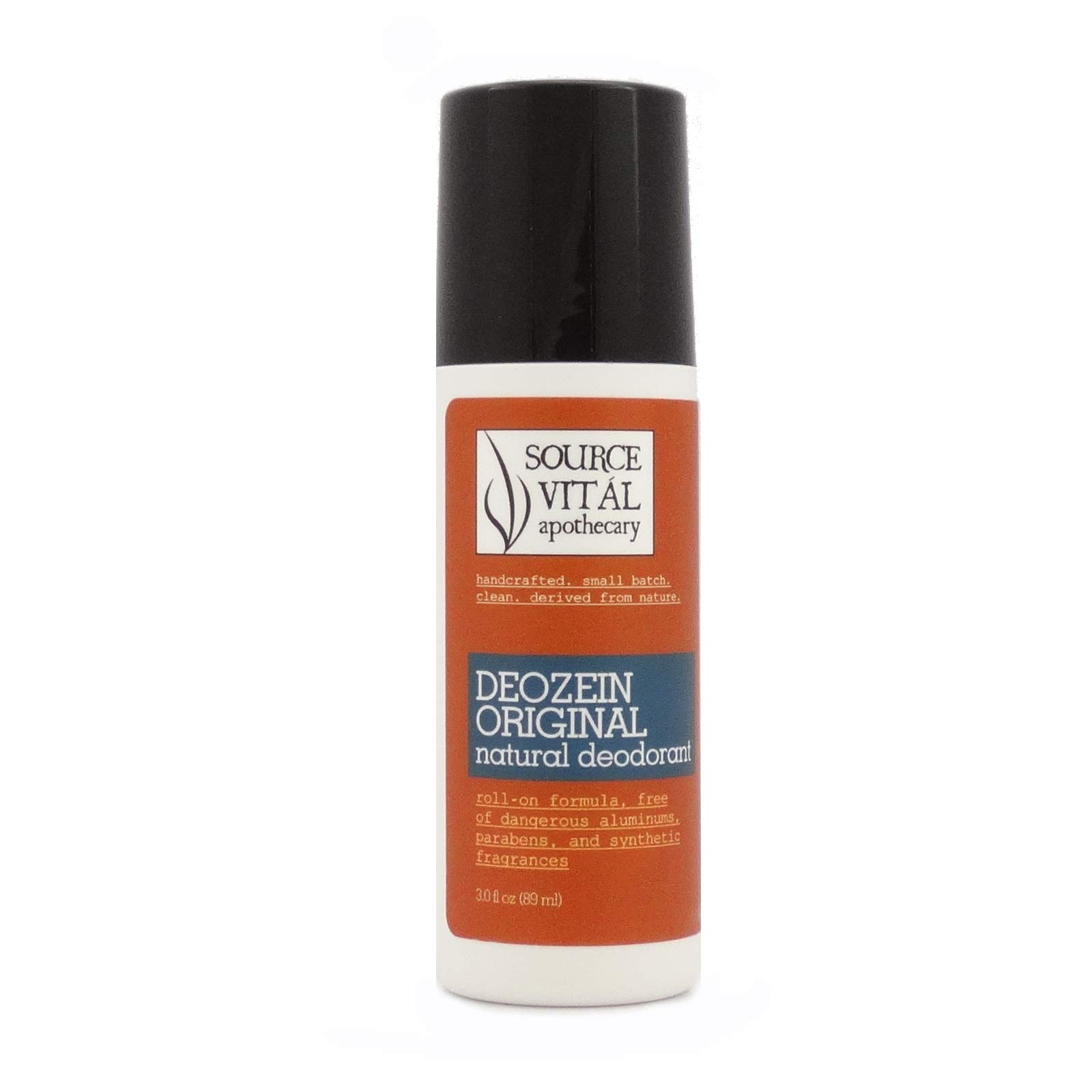 Source Vitál Apothecary | Deozein Natural Roll-On Deodorant | Paraben and Baking Soda Free, Non-Toxic, Odor-Controlling for Men and Women | 3 fl. oz.