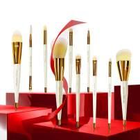 Brush Master Makeup Brush Set for Foundation Concealer Eyeshadow Eyeliner Blush, W/Make up Brushes Box, 10Pcs