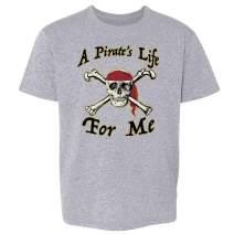 Pop Threads A Pirate's Life for Me Skull Halloween Costume Toddler Kids Girl Boy T-Shirt