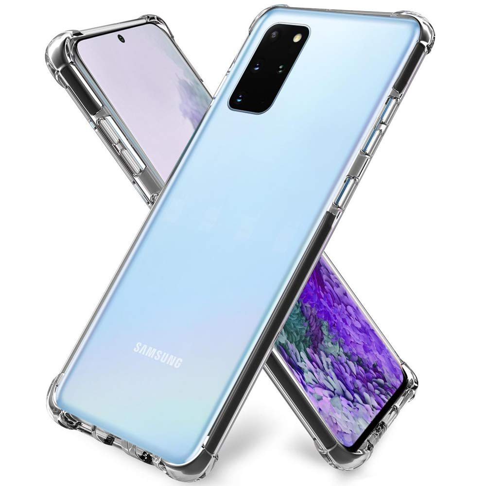 "ZeKing Galaxy S20 / Galaxy S20 5G (6.2"") Case Anti-Scratch Flexible TPU Crystal Clear with Four Corner Bumper Protective Case Cover(Transparent)"