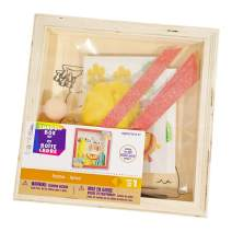 Customizable Wooden Llama Shadow Box Kit – Includes All The Stickers, Paint, and Other Materials You Need – Ages 6+ – Makes 1