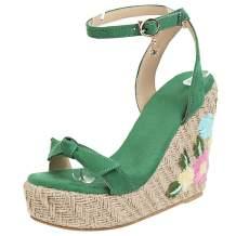 Waucuw Women's Wedge High Heel Bows Strap Sandals