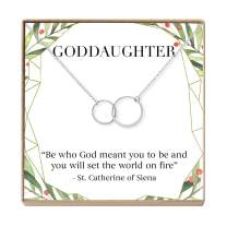 Goddaughter Christmas Necklace - Heartfelt Card & Jewelry Gift Set