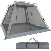 KingCamp Outdoor Instant 10 x 10 Feet Fire-Resistant Screen House UPF 50+ Sun Shelter with Carry Bag