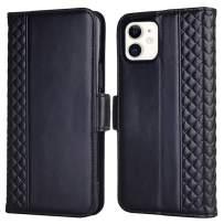 Tianniuke iPhone 11 Wallet Case, Genuine Leather iPhone 11 Flip Case RFID Blocking Card Slot Kickstand Case for iPhone 11 6.1-inch (2019) (Black)