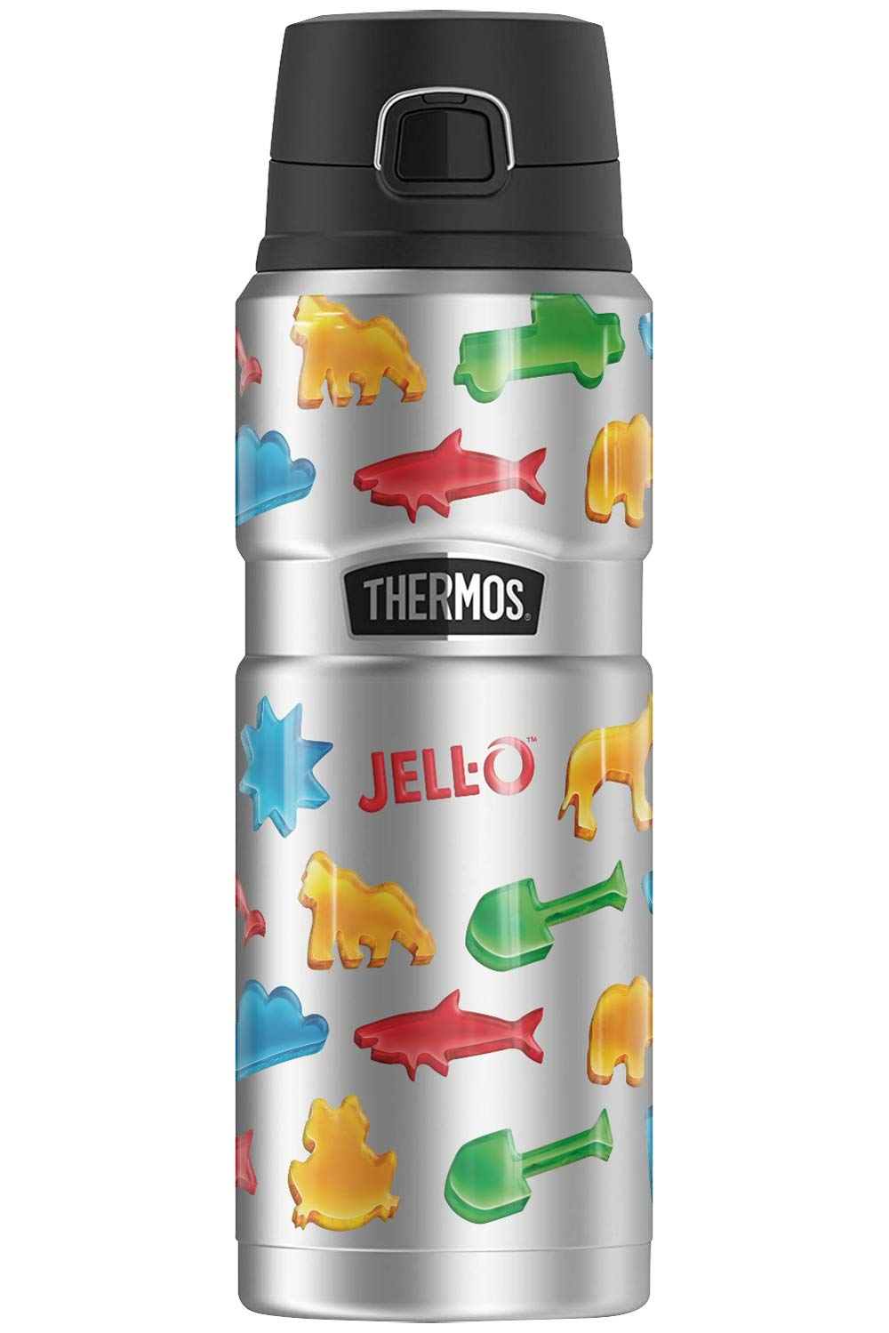 Jello Jello Jigglers Pattern THERMOS STAINLESS KING Stainless Steel Drink Bottle, Vacuum insulated & Double Wall, 24oz
