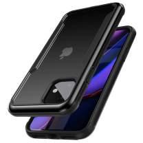 ZUSLAB Iron Shield Designed for iPhone 11 Case with Aluminum Frame - Black & Black