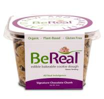 BeReal Doughs Edible and Bakeable Cookie Dough | Organic Gluten-Free and Plant-Based, Ready to Eat and Bakeable Vegan Chocolate Chip Cookie Dough | Allergen Friendly | Signature Chocolate Chunk |16 Oz