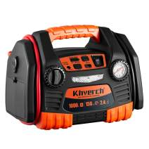 Kinverch Portable Car Jump Starter 1000 Peak Amp 12-Volt with 1-USB 1-12V Power Ports & 150 PSI Air Compressor