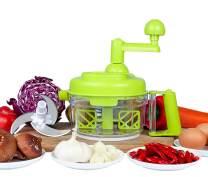 Tenta Kitchen 3.2-Cup/800ml Hand Crank Food Processor/Manual Food Chopper/Meat Grinder/Vegetable Dicer And Mincer/Fruit Blender With Egg Separator …