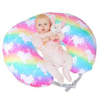 ICOSY Nursing Pillow Cover with Bonus Head Positioners   Unicorn Slipcover for Breastfeeding Moms   Pillow Cover Soft Hypoallergenic Slipcover Best Baby Shower Gift