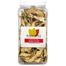 Dried Galangal, Sliced | Greater Galangal - Alpinia Galanga | Perfect for Tom Yum and Tom Kha Soups 1.25 lbs.