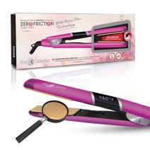 ProCabello Zero Friction Digital Styler Revolutionary Flat Iron Nano-Fiber Technology Prevent Moisture Loss Protect Hair Health (Pink)