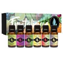 Fruitalicious - Gift Set of 6 Premium Fragrance Oils - Violet Sugar, Kiwi Watermelon, Orange Chiffon Cake, Cucumber Melon, Portuguese Pomelo and Dragonfruit Berry - Eternal Essence Oils