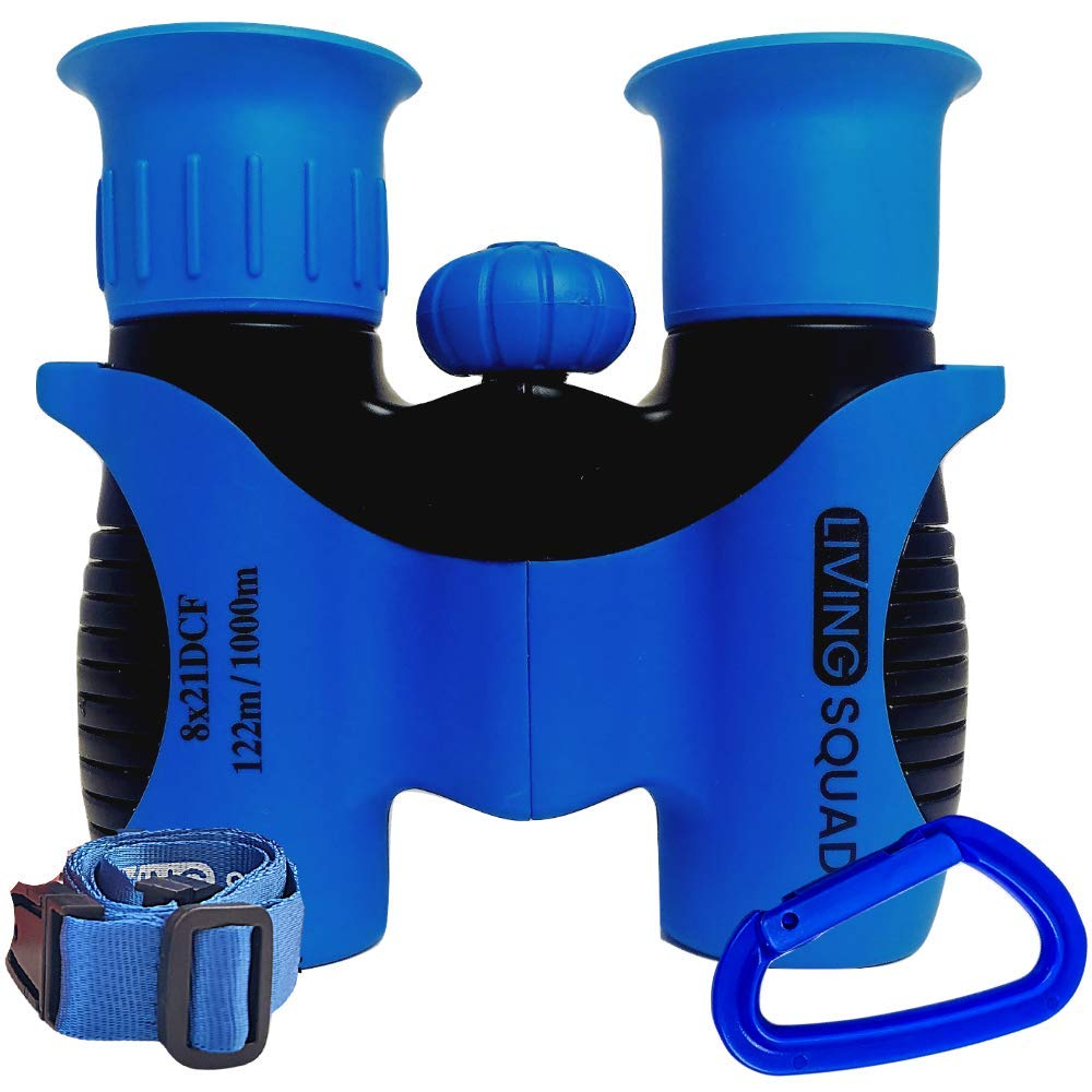 Kids Binoculars 8x21 Age 3-12, Shock Proof Compact Binoculars for Kids, High Resolution Optics for Bird Watching, Stargazing, Hunting, Hiking, Travel, Spy Games, Kids Learning