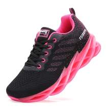 SKDOIUL Sport Walking Shoes Women mesh Breathable Comfort Fashion Athletic Running Shoes Ladies Runner Gym Jogging Sneakers Casual Tennis Trainers hot Pink Size 9.5