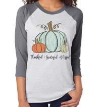 Women Thanksgiving Shirt It's Fall Yall Graphic T-Shirt Pumpkin Harvest Printed Long Sleeve Splicing Top