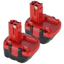 2-Pack 12V 2.0Ah Replacement Battery for Bosch BAT043 BAT120 BAT045 BAT046 BAT139 BAT049, 2607335709, GSR 12-2, GSR 12-1, GSR12 VE-2, PSR 12, GLI 12V, PSB 12 VE-2, 32612, 3360K