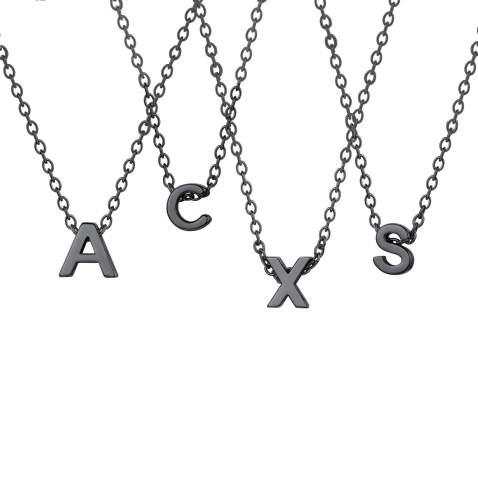 U7 Unique Tiny Initial Necklaces Women Girls Choker Alphabet Letter Jewelry 18K Gold/Stainless Steel/Rose Gold Personalized Monogram Block Name Necklace