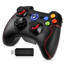 Wireless Controller for PS3, PC Gamepads with Vibration Fire Button Range up to 10m Support PC (Windows XP/7/8/8.1/10), PS3, Android, Vista, TV Box Portable Gaming Joystick Handle