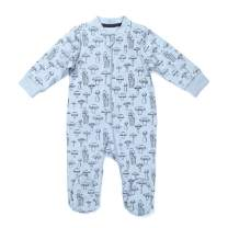 Zanie Kids Unisex Baby Long Sleeves Snap-up Romper Cotton Outfit Jumpsuit