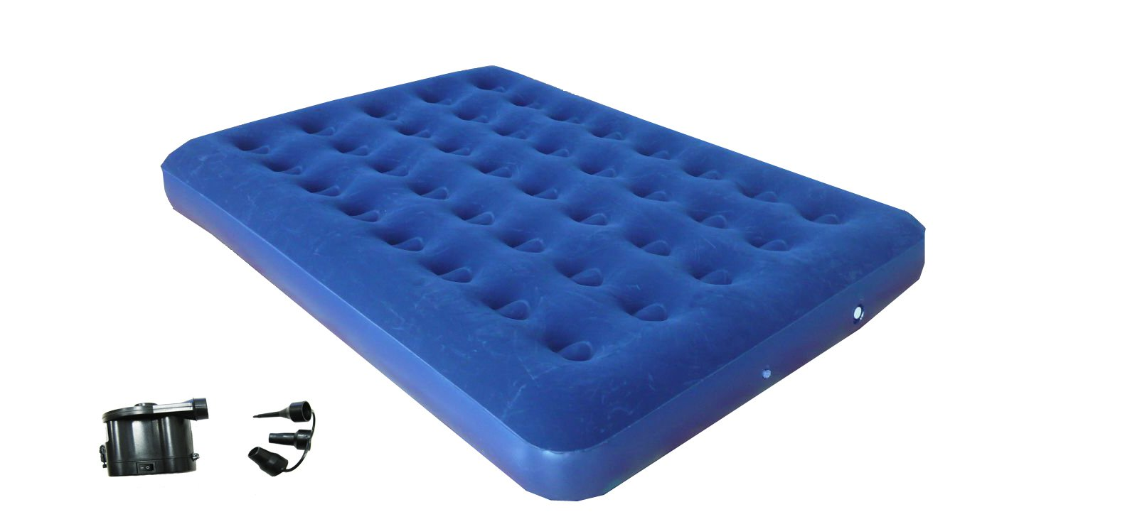 """ZALTANA Double Size Air Mattress with DC air Pump (Operated by 4""""D Cell Battery)"""