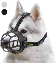 fertgo Soft Breathable Basket Silicone Dog Muzzles for Small, Medium and Large Dogs, Adjustable, Anti-Barking and Anti-Chewing, Allow Dog Safe Walking.
