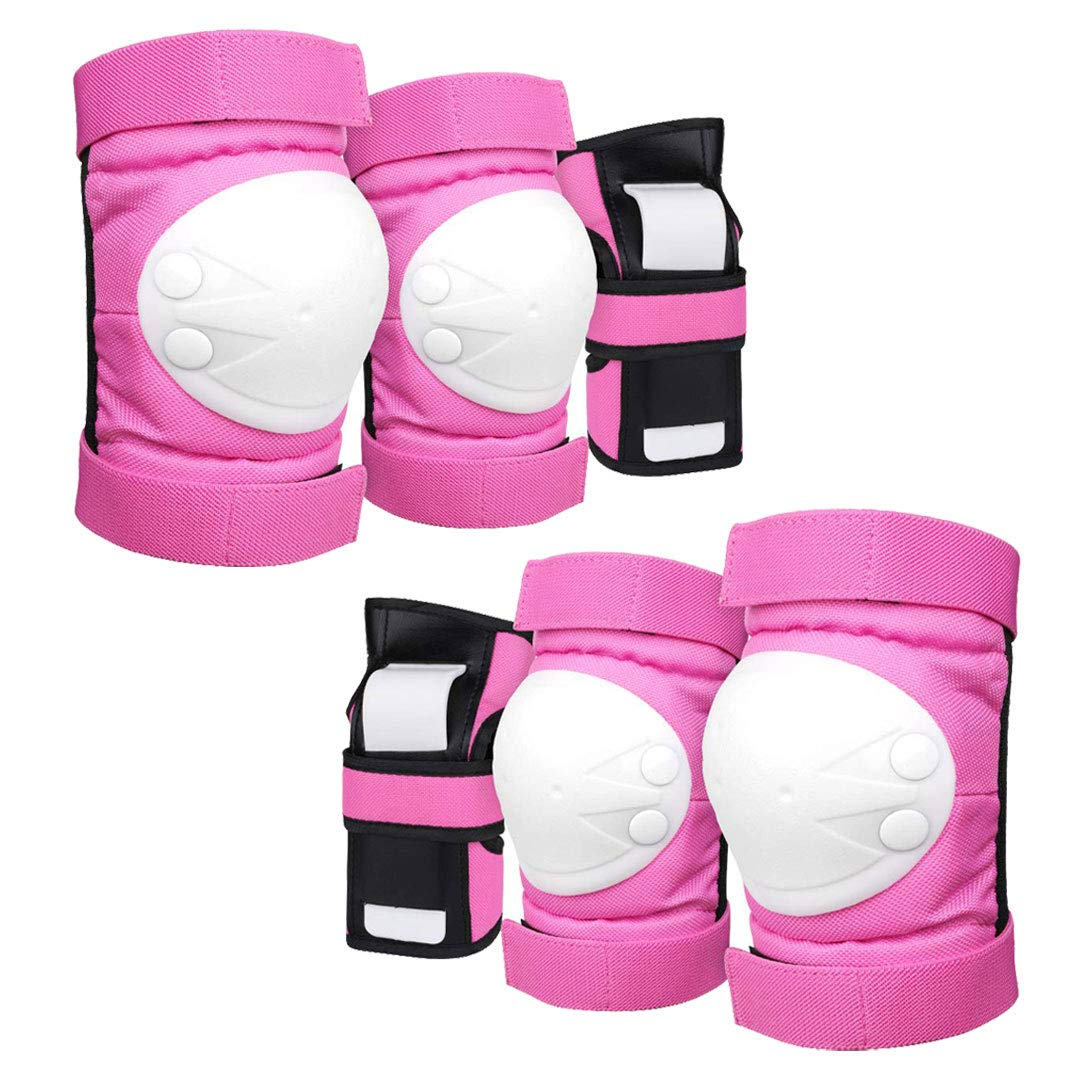 Geelife Knee Pads Elbow Pads Wrist Guards 3 in 1 Skateboard Protective Gear Set for Rollerblading Skateboarding Cycling Skating Scooter Bike Kids/Adults