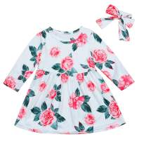 Hipea Baby Girl Clothes Bohemian Short Sleeveless Flower Princess Floral Dress A-line Formal Kids Summer Dress Skirt (Pink-b, 3-4T)