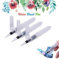 MAZU 3-Piece Leak Proof Water Coloring Brush Pen Set - Refillable, Watercolor, Calligraphy, Painting,Water-Soluble Pencils,Arts Markers,Solid Colors or Powdered Pigment D-1