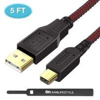 6amLifestyle USB Charging Cable High Speed Premium USB Data Sync Power Charger Charging Cord for Nintendo 2DS / 3DS / 3DS XL/DSi/DSi XL/New 2DSLL,Black Red