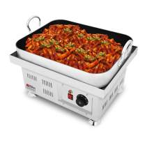 "ALDKitchen Korean Rice Cake Maker | Tteokbokki Machine with Nonstick Coating | 18.6"" x 14.6"" Cooking Surface 