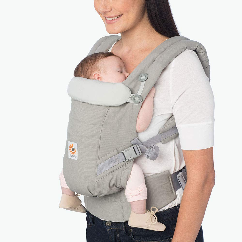 Ergobaby Adapt Baby Carrier, Infant To Toddler Carrier, Multi-Position, Premium Cotton, Pearl Grey