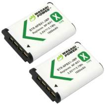 Wasabi Power NP-BX1 Battery (2-Pack) for Sony NP-BX1/M8, Cyber-Shot DSC-HX80, HX90V, HX95, HX99, HX350, RX1, RX1R II, RX100 (II/III/IV/V/VA/VI/VII), FDR-X3000, HDR-AS50, AS300 + More