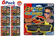 JA-RU Rearview Spy Glasses (6 Units) Spy Gear with Rearview Mirror Sunglasses Spy Gadgets for Kids and Adults Reflective Shades Gear Gadget Party Favors Pack. Plus 1 Ball | Item #1498-6p
