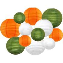 Just Artifacts Decorative Round St. Patrick's Day Paper Lanterns 12pcs Assorted Sizes & Colors (Color: St. Patty's Day)