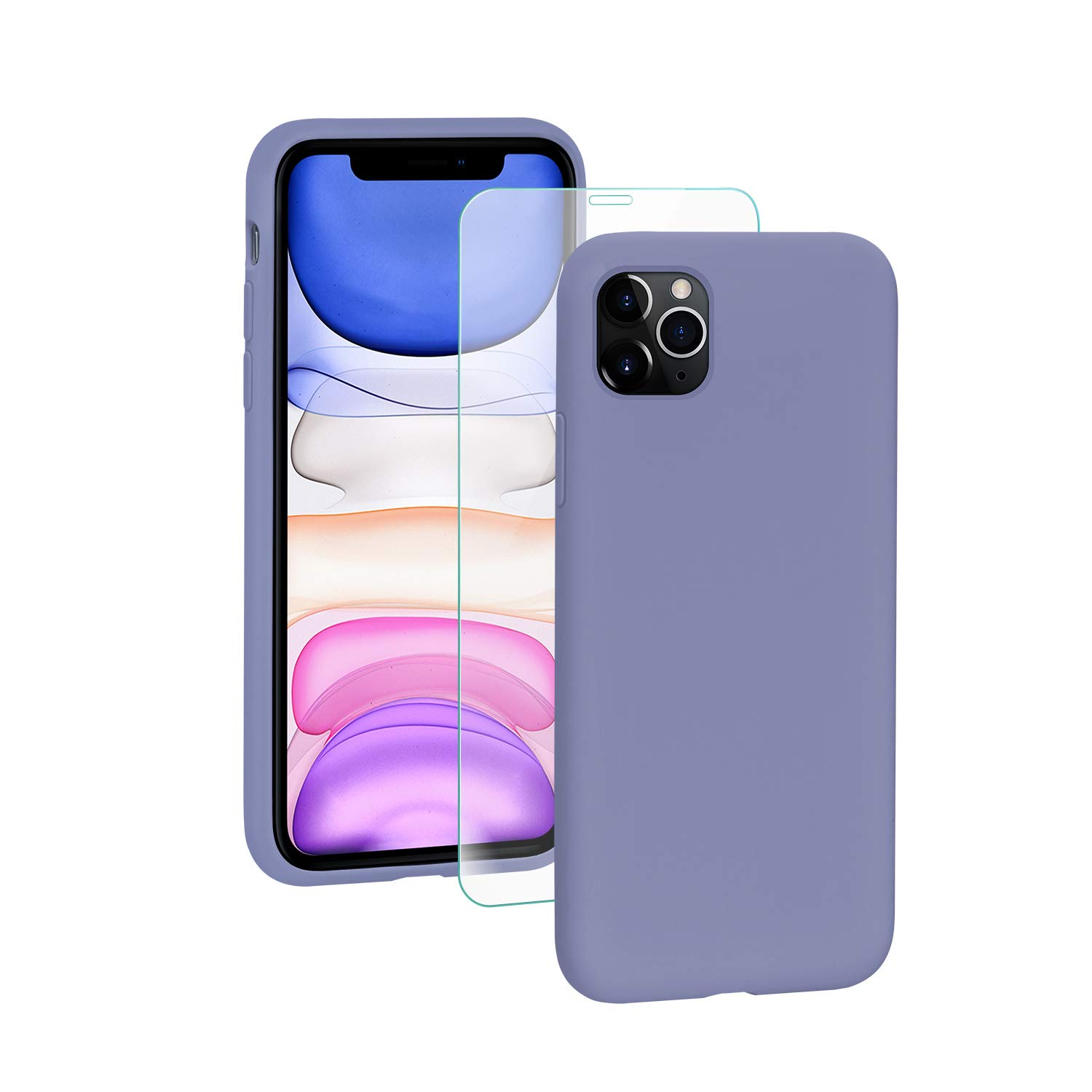 SmartDevil iPhone 11 Case,[Fully Protective] Liquid Silicone Gel Rubber Shockproof Case Soft Microfiber Cloth Lining Cushion for iPhone 11- Purple