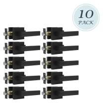 10 Pack Heavy Duty Door Lever Lock Keyed Entry Door Handle Lock Set, Matte Black Keyed(Not Keyed Alike) Exterior Door Handle, Door Levers for Front Doors, 2.13 lb One Lever