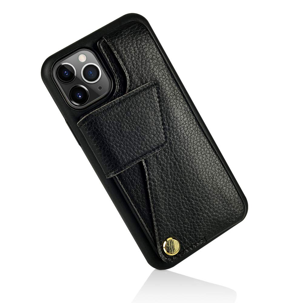 iPhone 11 Pro Max Wallet Case, iPhone 11 Pro Max Case with Card Holder, ZVEdeng iPhone 11 Pro Max Case with Wallet Credit Card Slot, Shockproof Leather Card Case Protective Cover, 6.5inch-Black