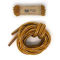 Honey Badger Work Boot Laces Heavy Duty W/Kevlar - USA Made Round Shoelaces for Boots - Gold