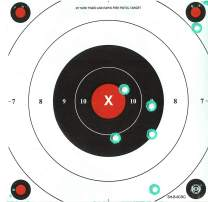 DOMAGRON Green Fluorescent Reactive Target - 25 Yard Timed and Rapid Fire Repair Center Pistol Target B-8(C) (24 Pack) with See hit Technology