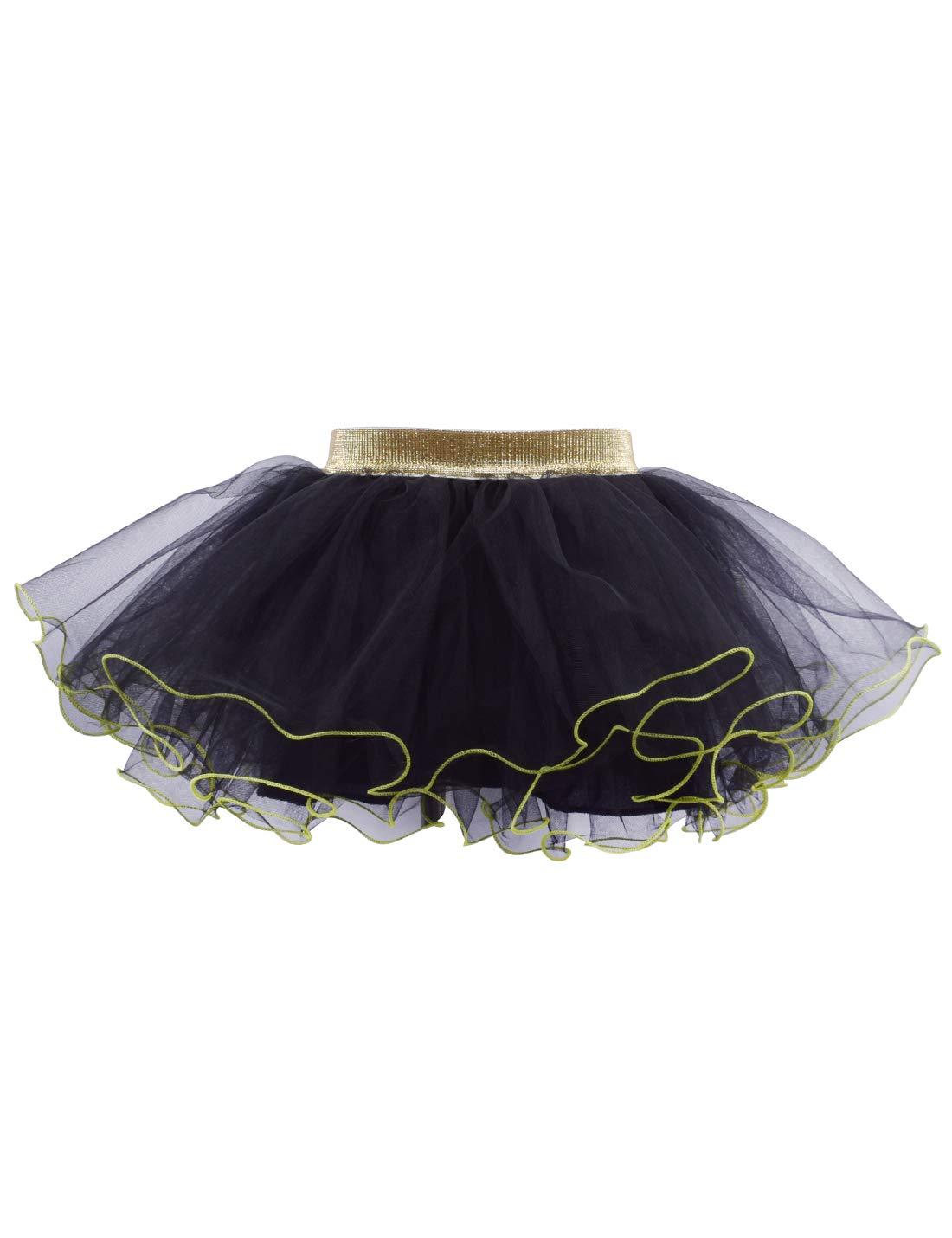 Baby Girls Tutu Skirt 4-Layer Fluffy Tulle Toddler Ballet Dance Party Pettiskirt 2-4T
