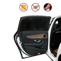 """Carrep Side Car Window Shade Sunshades 2 Package Protects Baby from Sun, Harmful UV Rays,Fits Most Small Cars, Trucks and SUVs (L 44""""X20"""" Black)"""