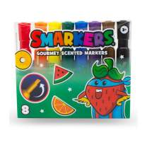 Scentco Smarkers - Scented Markers, Assorted Colors (Chisel Tip) - 8 Count