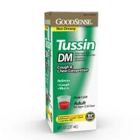 GoodSense Tussin DM, Cough Suppressant & Expectorant, Cherry, 8 Fl Oz