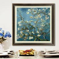 Faraway Almond Blossom by Van Gogh DIY Handmade Stamped Cross Stitch Kit Embroidery Kit 74x74 cm