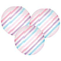 Just Artifacts 12-Inch Magical Pastel Stripes Paper Lanterns (Set of 3)