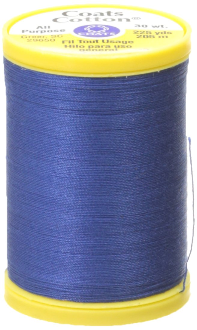 Coats: Thread & Zippers S970-4470 General Purpose Cotton Thread, 225 yd, Yale Blue