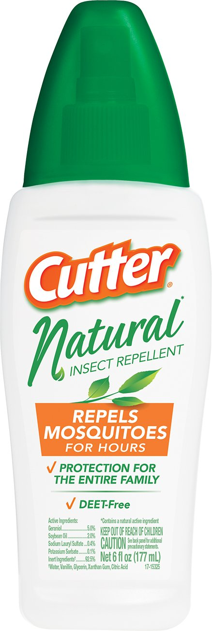 Cutter Natural Insect Repellent, Pump Spray, 6-ounce, 12-Pack