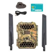 "4GLTE Wireless Trail Camera - Snyper Cellular Trail Cameras 12MP/1080P Wireless Trail Camera with 2"" LCD Screen - Sends to Any Network Phone. GPS Camera Tracking"